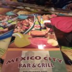 The menu for Mexico City Grill