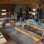 Inside Barracks and dining area