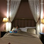 Our toddler in the grand bed