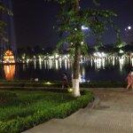 Lake near hotel