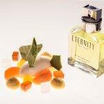 Eternity de Calvin Klein (Mandarina, sorbete de bergamota, merengue de albahaca y lima, etc.)