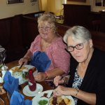 Sandy & Jenny enjoying the food in the restaurant, I am not there as I was taking the Photo, & S
