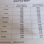 Hotel Ferry Boat Schedule