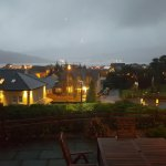 View from the dining room at dusk after a wet and wild day!