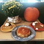 Fall Classics are here !!  Pumpkin cheese cake, Pumpkin pie, Pumpkin pancakes .... ALL MADE IN H
