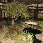 Jardim interno....