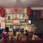 The very cute, Japanese restaurant counter
