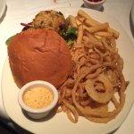 crab cake sandwich w/fries