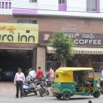 Hotel entrance from Rajkumar road and My coffee shop.