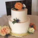 Simply elegant wedding cake in a personal size for the bride & groom!