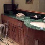 Bathroom with a TV