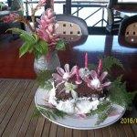gâteau de fête offert par la maison