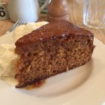 Warm Toffee Date Cake with Ice Cream