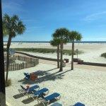View from room onto Treasure Island beach