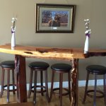 Hand crafted Juniper Bar by a local furniture maker.