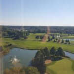 View of the golf course and beyond from our 10th floor room