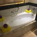 Todo preparado para un baño relajante preparado por nuestro Mayordomo
