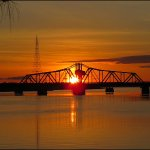 Sunrise - Little Current Swing bridge