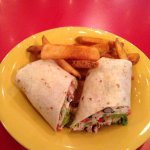 Southwest Wrap with Cajun Fries
