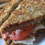 Smoked turkey sandwich, very high quality and worth $12.
