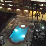 Pool at night - open until 10pm
