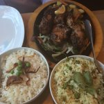 Chicken tikka & lamb chops. Delicious