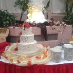 The cake table was AMAZING! Along with the ice sculpture!