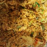 Biryani rice without the ingredients listed on the take out menu.