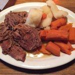 Pot roast with carrots and potatos