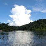Bambusfloß Fahrt auf dem Rio Grande