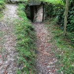 View of entrance to defensive trench