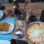 Spaghetti Bolognese, Pizza quattro formaggi