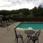 Not a bad view, plus we had the pools to ourselves! Missed peak foliage by 2 weeks:(