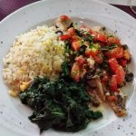 Mediterranean Fish with Spinach and Rice