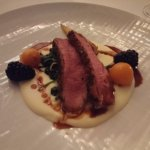 Duck breast on parsnip puree