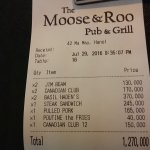 Very good food and reasonably priced....great value
