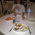 Dining on barracuda