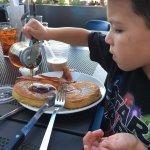 Great club, UHmazing short stack pancakes, hubby enjoyed the patty melt