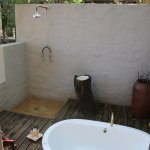 Vasca da bagno all'esterno