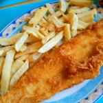 A small fish in greasy batter