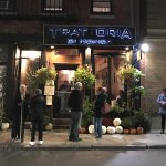 Exterior of Trattoria Di Monica, on Prince St in the North End
