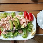 Seafood Louis Salad with accompanying clam chowder