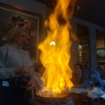 Flambe...with flaire. Very very good