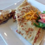 Rise and Shine crepe with turkey bacon