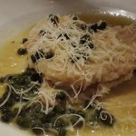 Chicken picatta was terrific with a side of creamy polenta