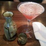 Sake (L) and Mango Martini