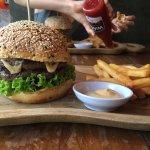 Bali Spicy crunch burger + original Wacko w/ double beef patties