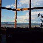 El estar del Hotel Blanca Patagonia
