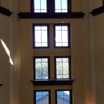 Windows in lobby from the 4th floor