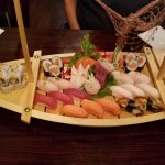 Love Boat. Who doesn't love sushi and sashimi served on a boat!